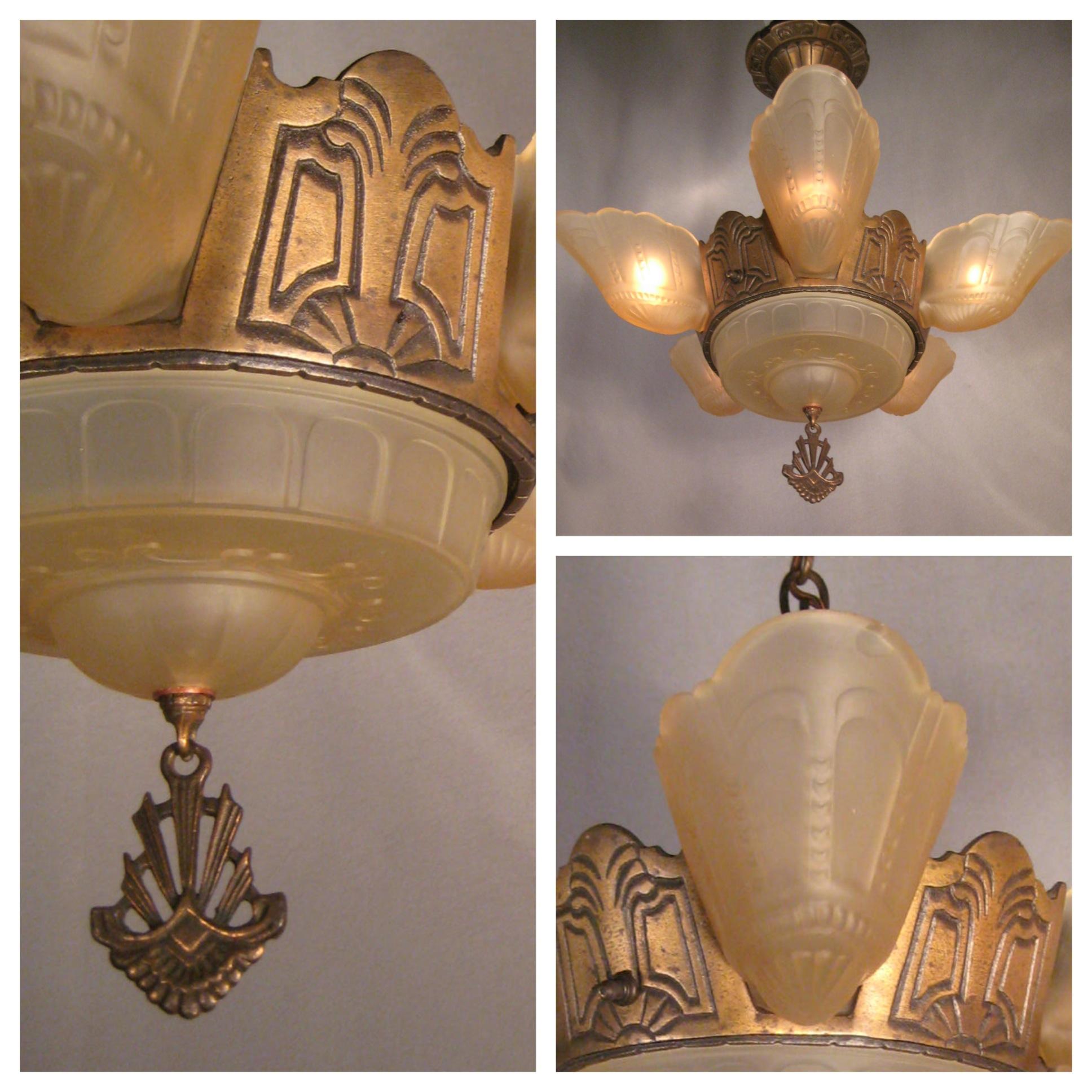 A3647 art deco bronze chandelier with shades bogart bremmer a3647 art deco bronze chandelier with shades arubaitofo Choice Image