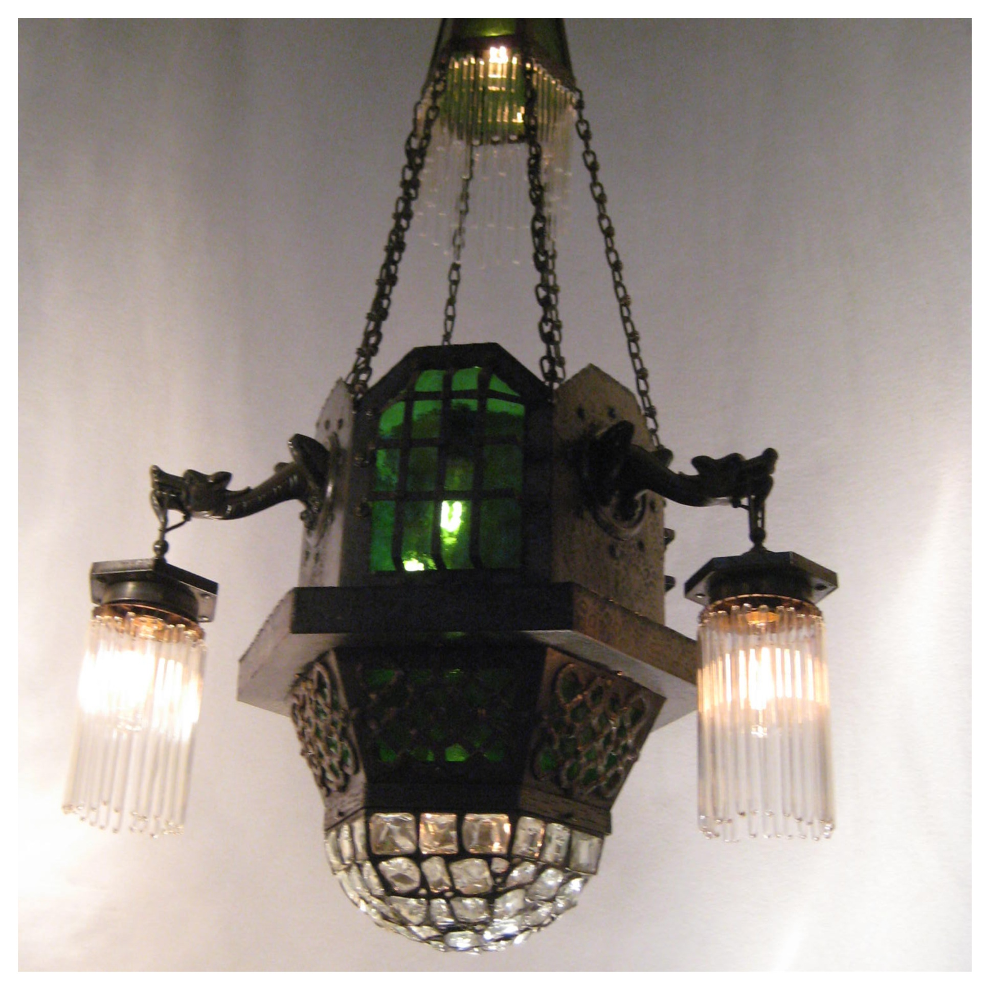 #A7643 Gothic Style Hammered Chandelier