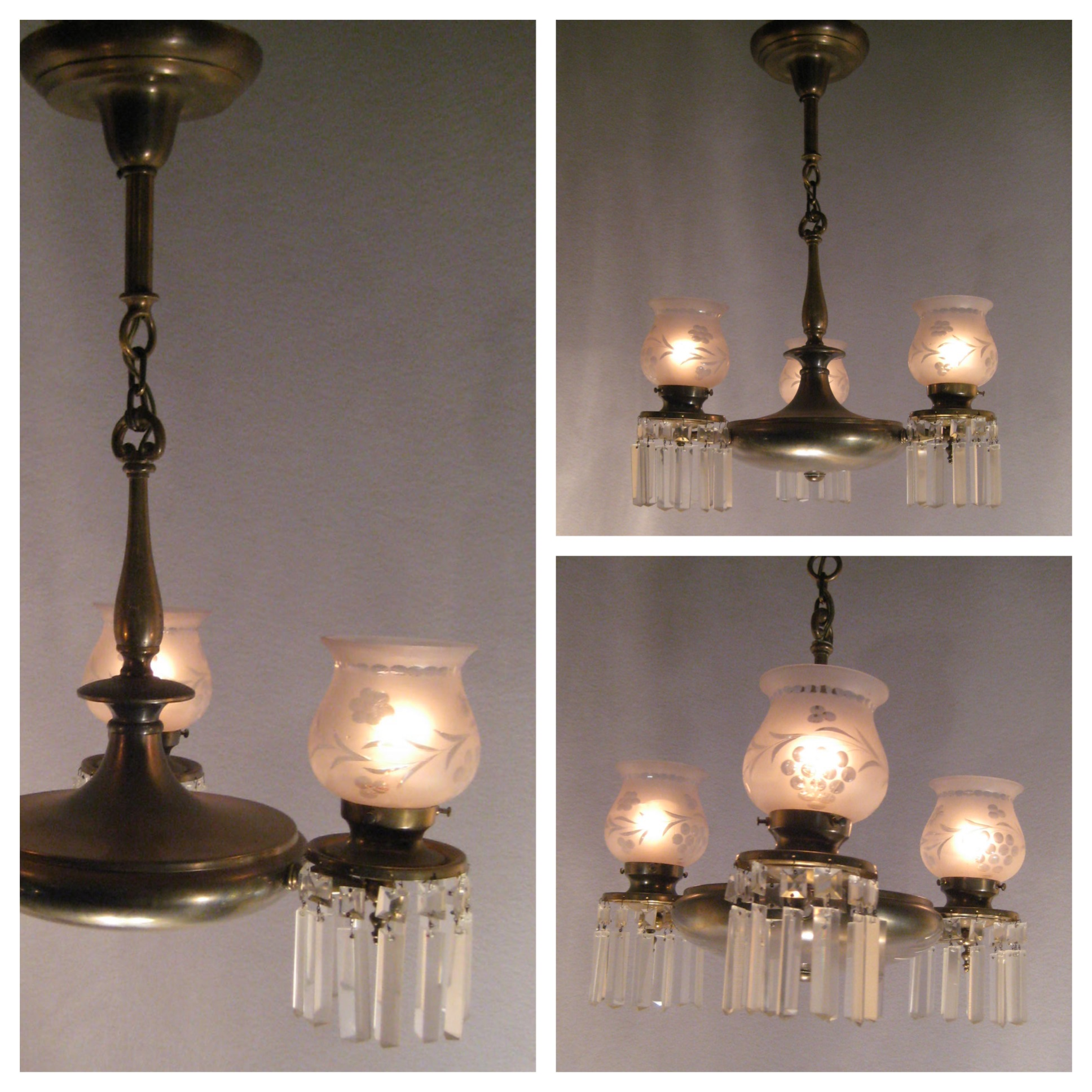 Chandelier Lighting Vancouver Bc: #A6236 Colonial Style Brass Chanderlier