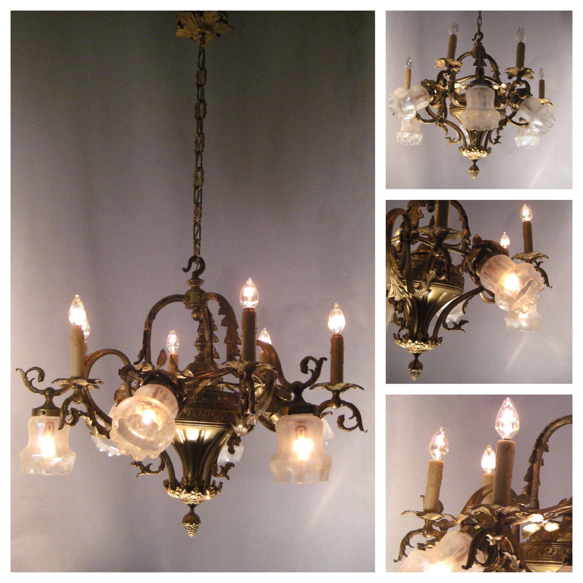 A4371 French Cast Bronze Chandelier