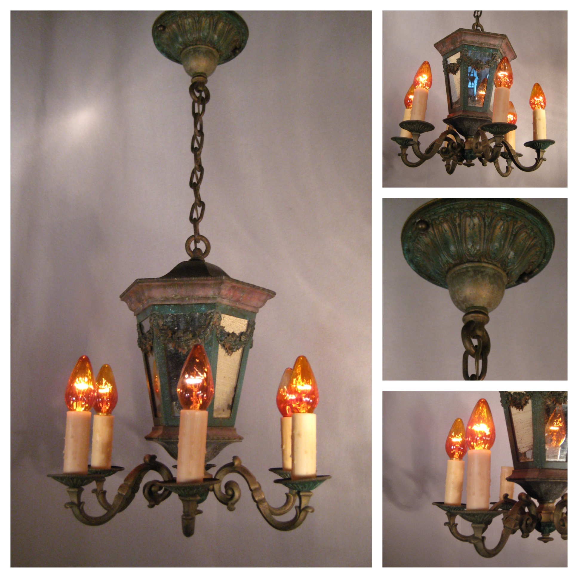 Items Similar To Lighting Rustic Chandelier Vintage 1920 S: #A6103 Country French Six Candle Chandelier