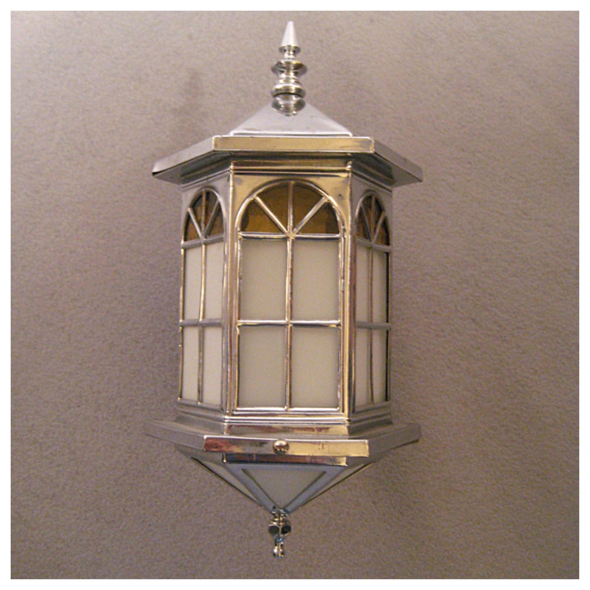 A3515 Pair Of Exterior Wall Lanterns Bogart Bremmer Bradley Antiques