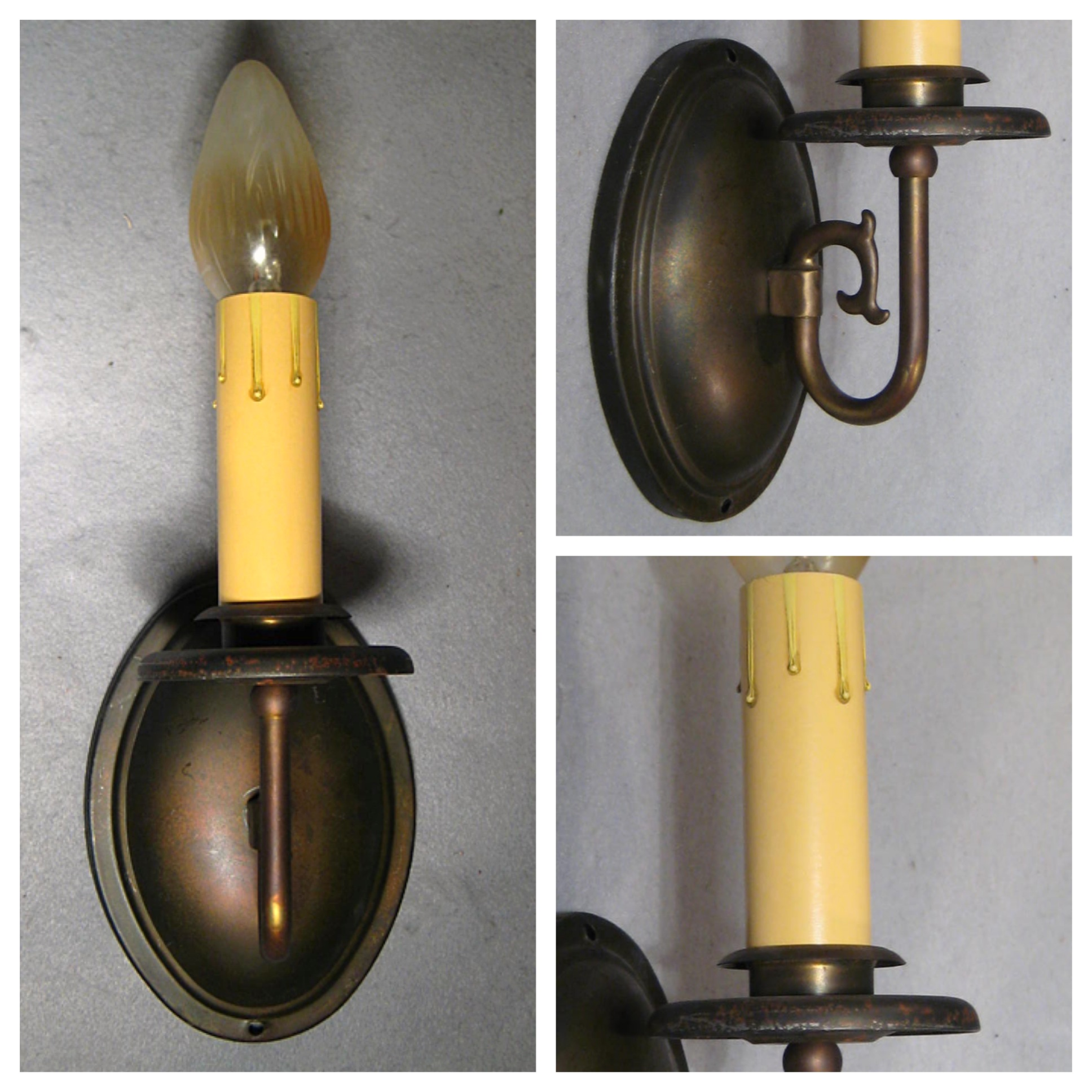 A7916 Single Candle Wall Sconce Bogart Bremmer Bradley Antiques