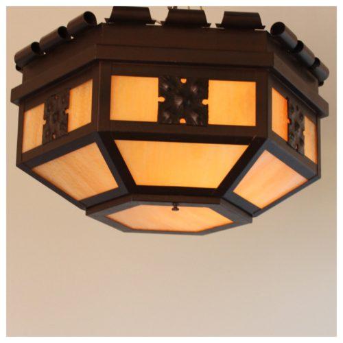 A4724 a c flush slag glass light bogart bremmer for Arts and crafts stores los angeles