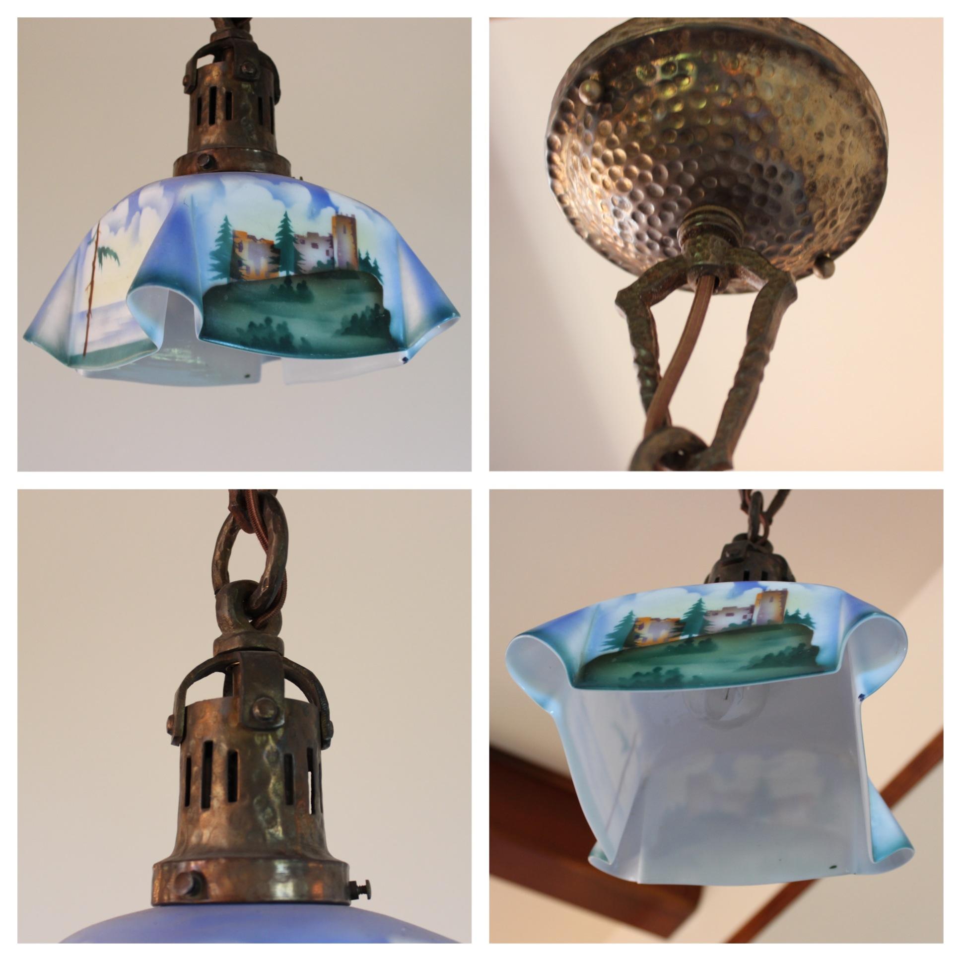 A7594 arts crafts pendant bogart bremmer bradley for Arts and crafts stores los angeles