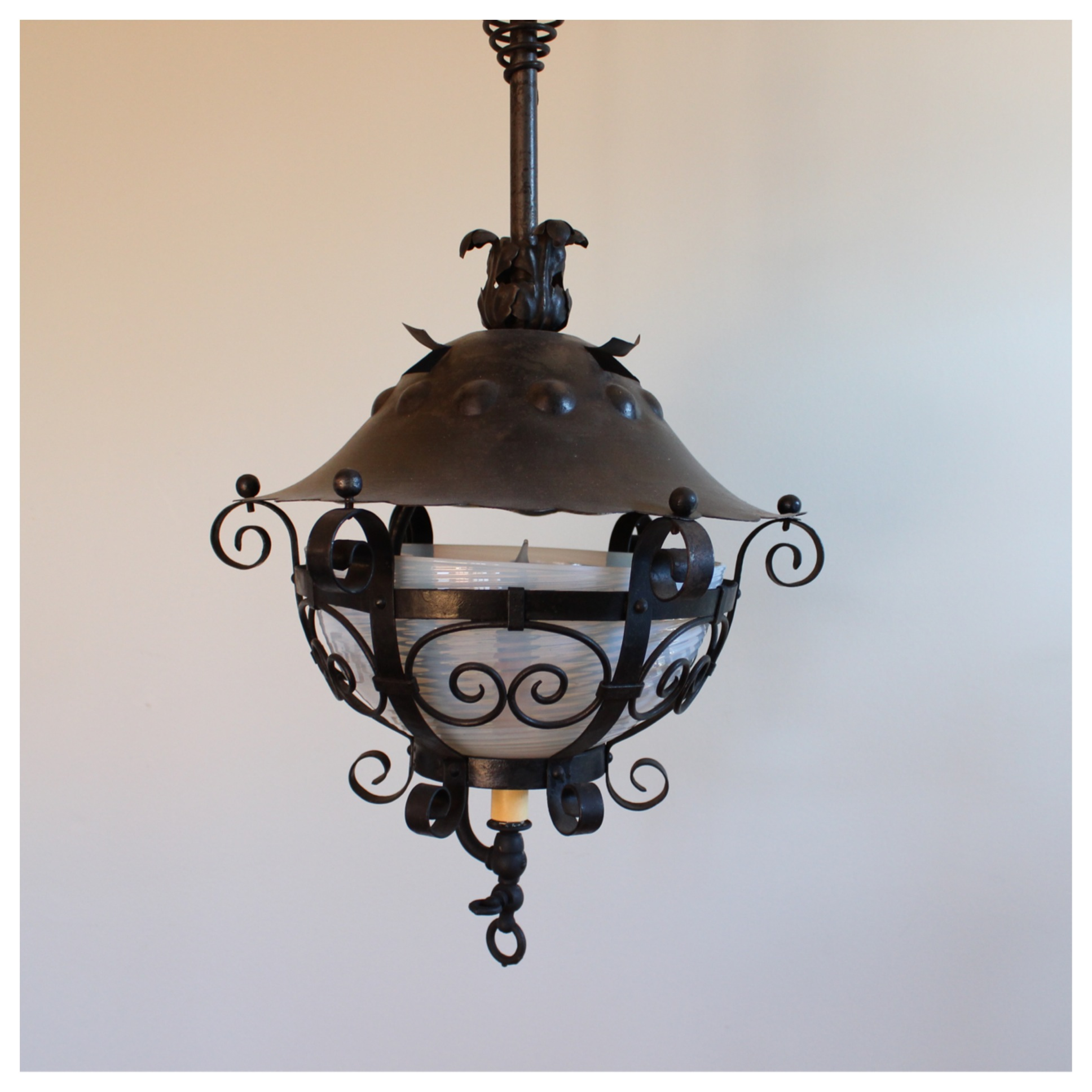 a7317 iron lantern pendant bogart bremmer bradley antiques