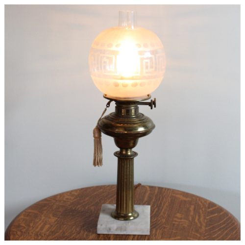 A1015 Victorian Oil Lamp Bogart Bremmer Bradley Antiques