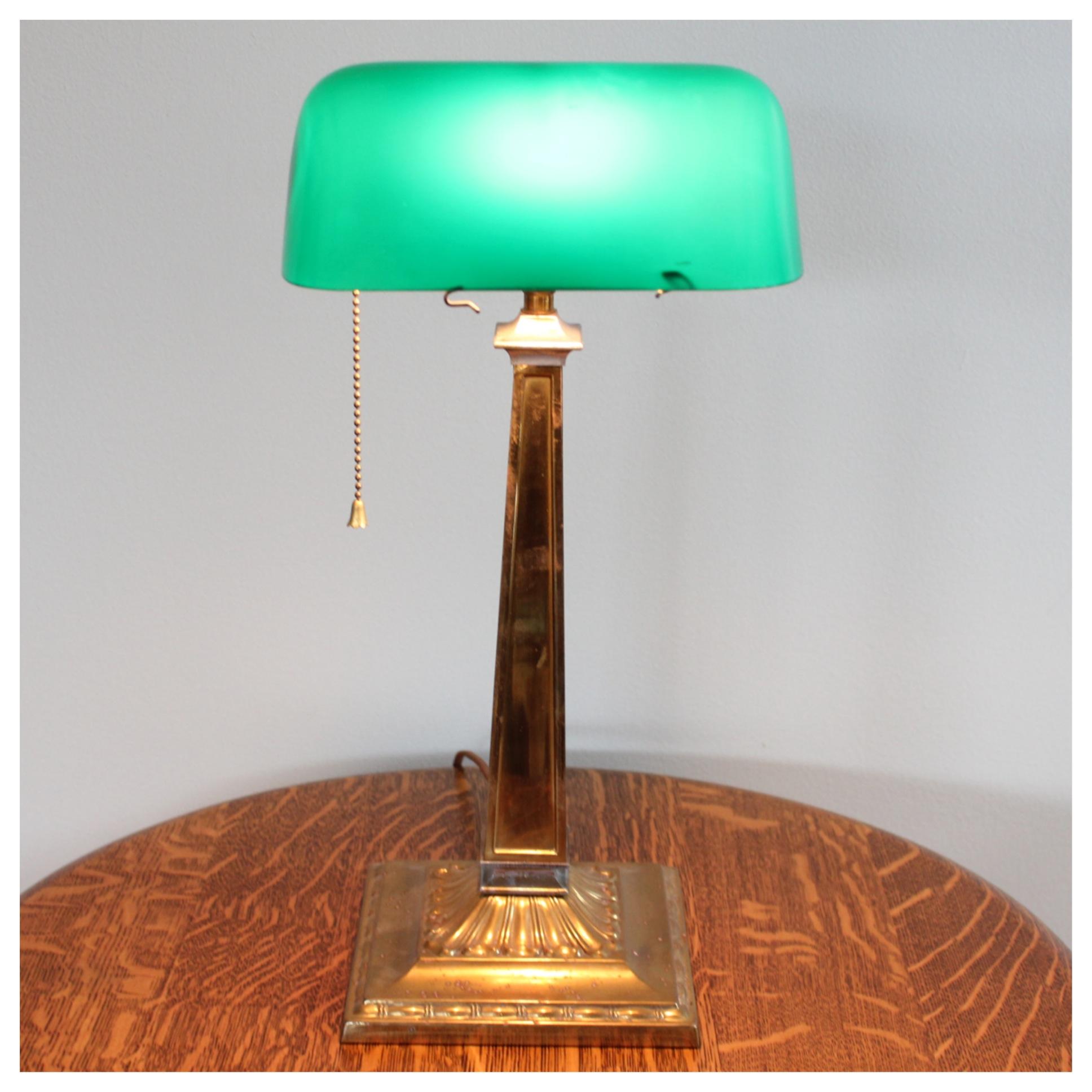 A1492 Emeralite Desk Lamp | Bogart, Bremmer & Bradley Antiques