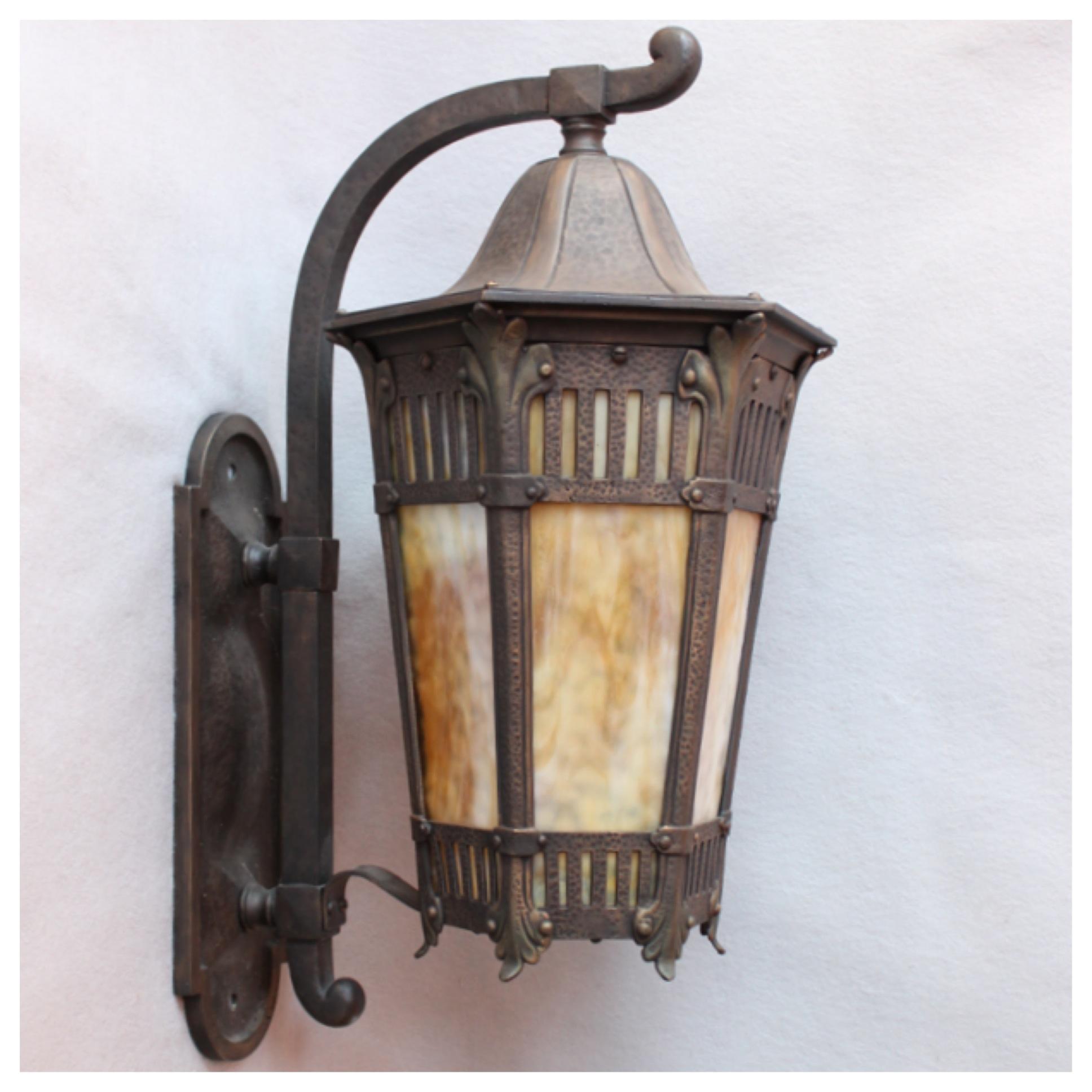 A7248 bronze porch wall lantern bogart bremmer for Art deco porch light