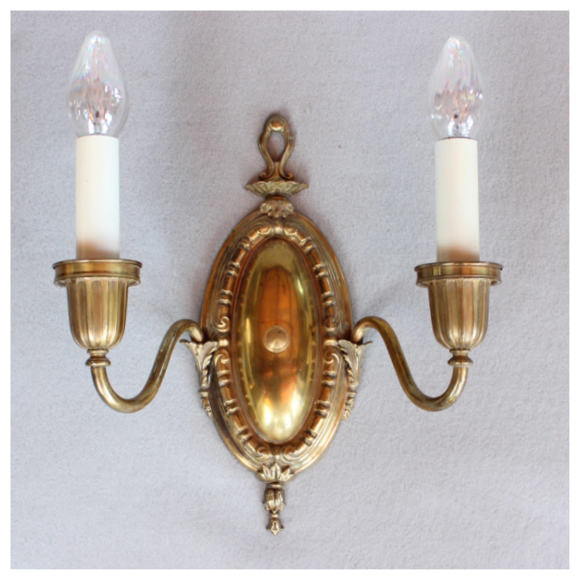 A5015 set of 4 wall sconces bogart bremmer bradley for Arts and crafts candle sconces