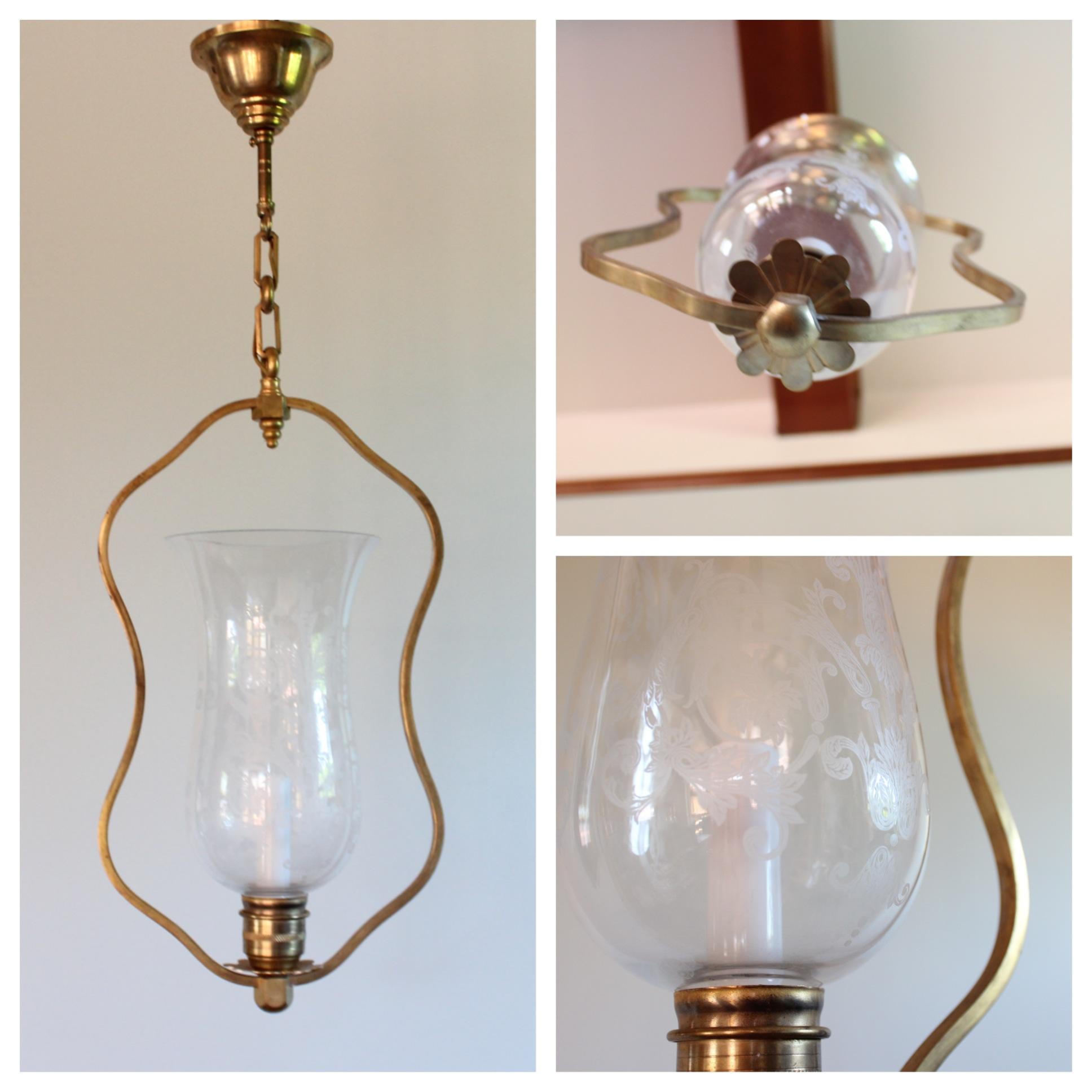 Harp Bar Lamp: #DIY118 Etched Baccarat Glass Harp Pendant