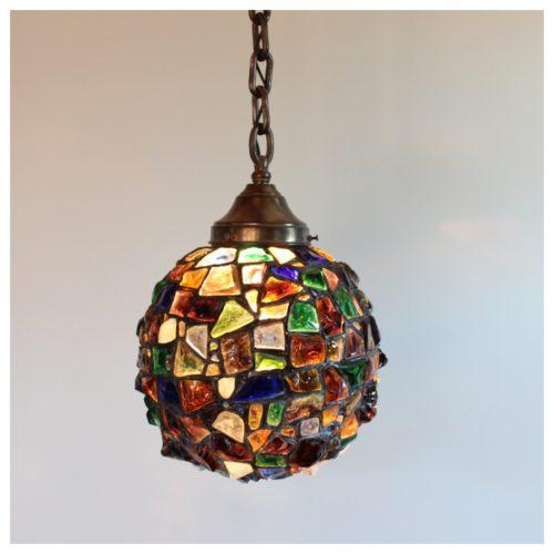 A8086 Austrian Chunk Glass Globe Bogart Bremmer Bradley Antiques