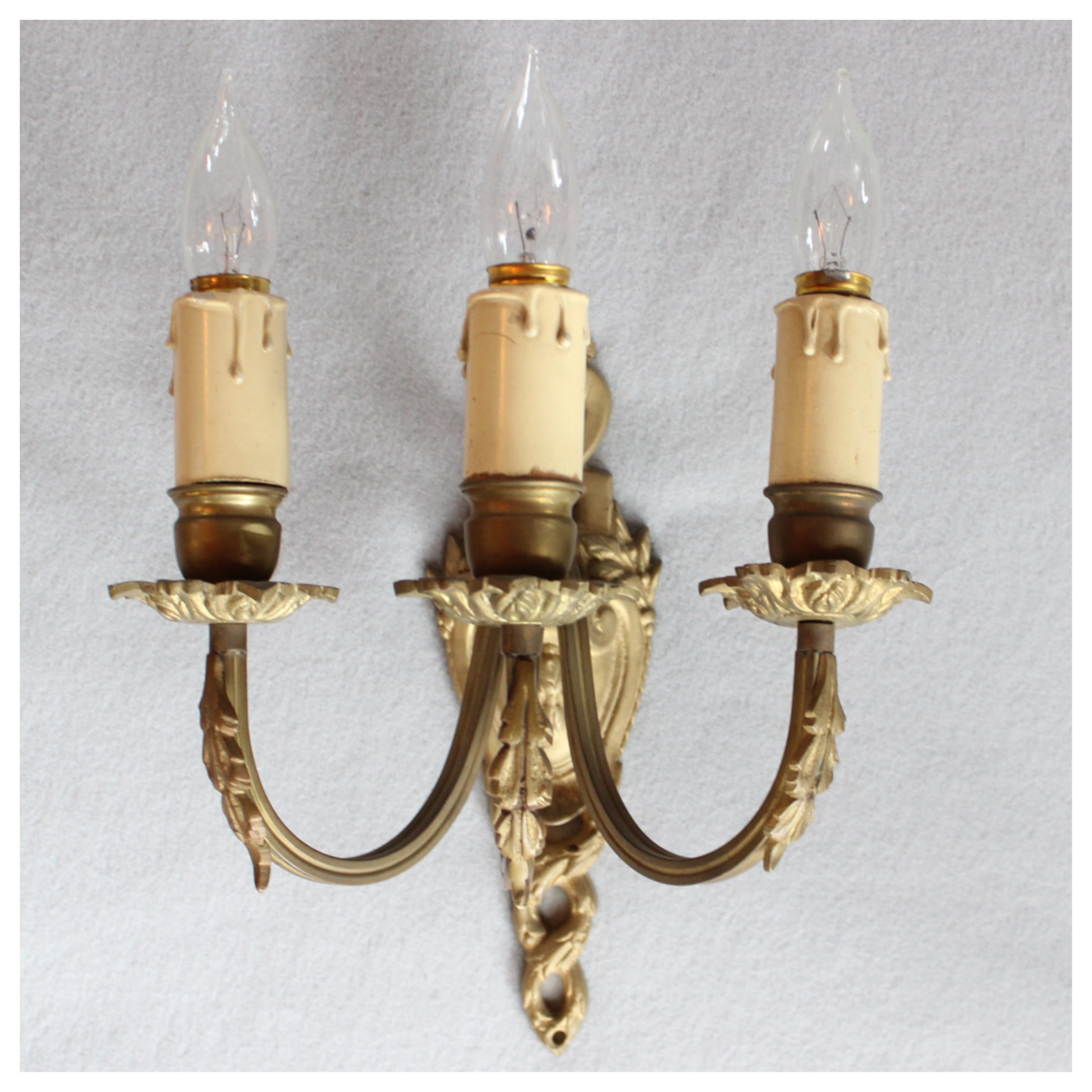 a6300 pair of three candle wall sconces bogart bremmer
