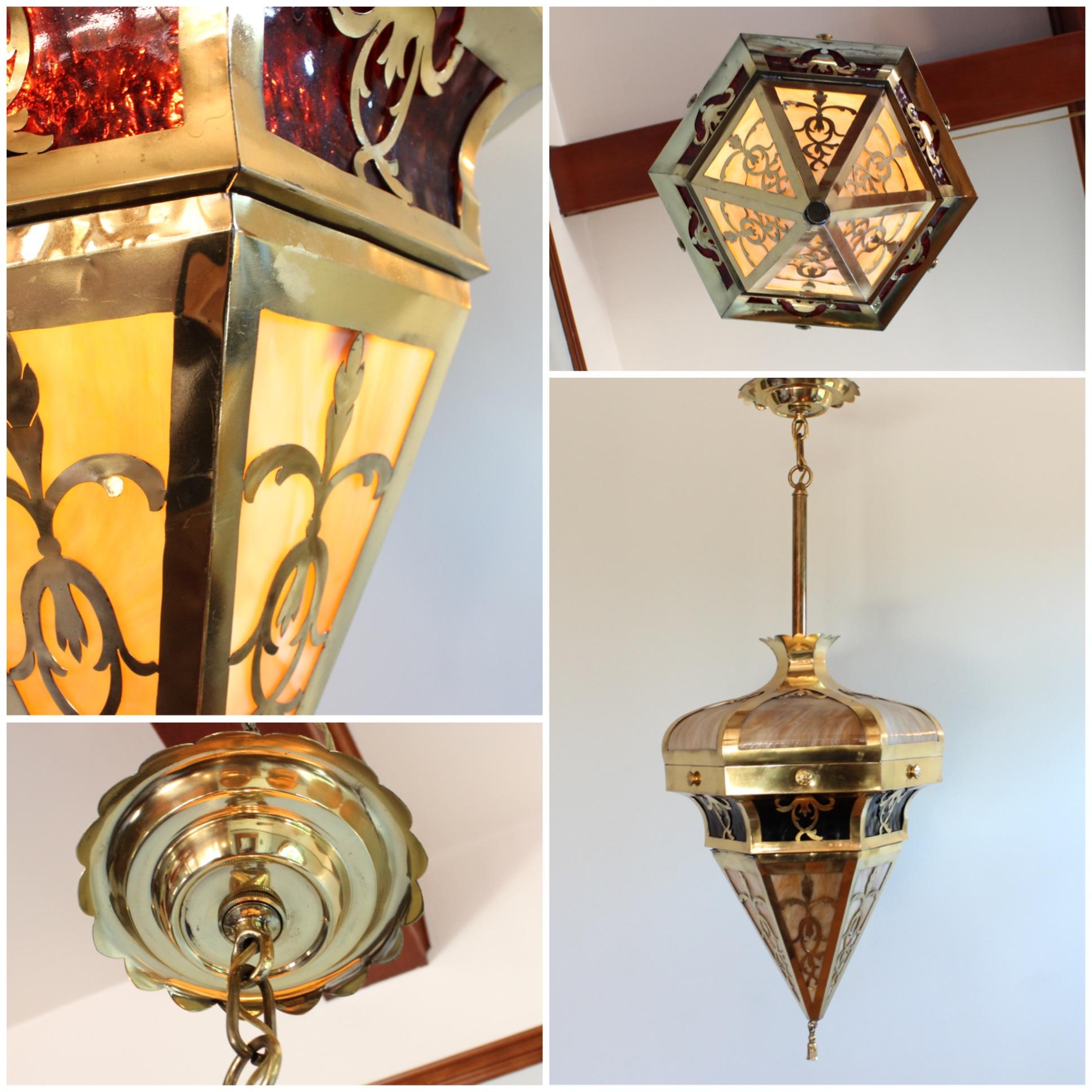 A3112 Slag Glass Globe Pendant Bogart Bremmer Bradley Antiques