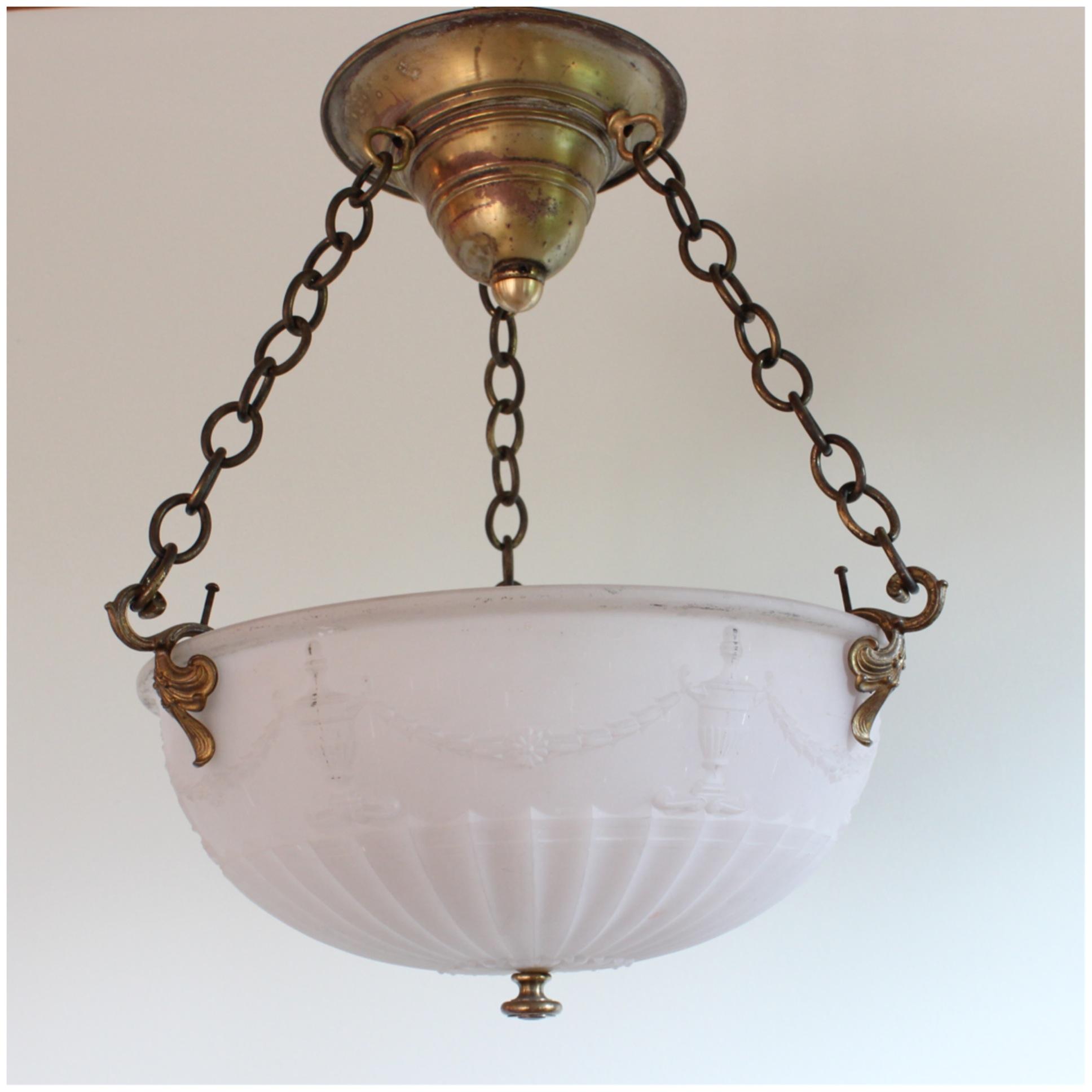 Diy103 camphor glass bowl light bogart bremmer bradley antiques diy103 camphor glass bowl light mozeypictures Gallery