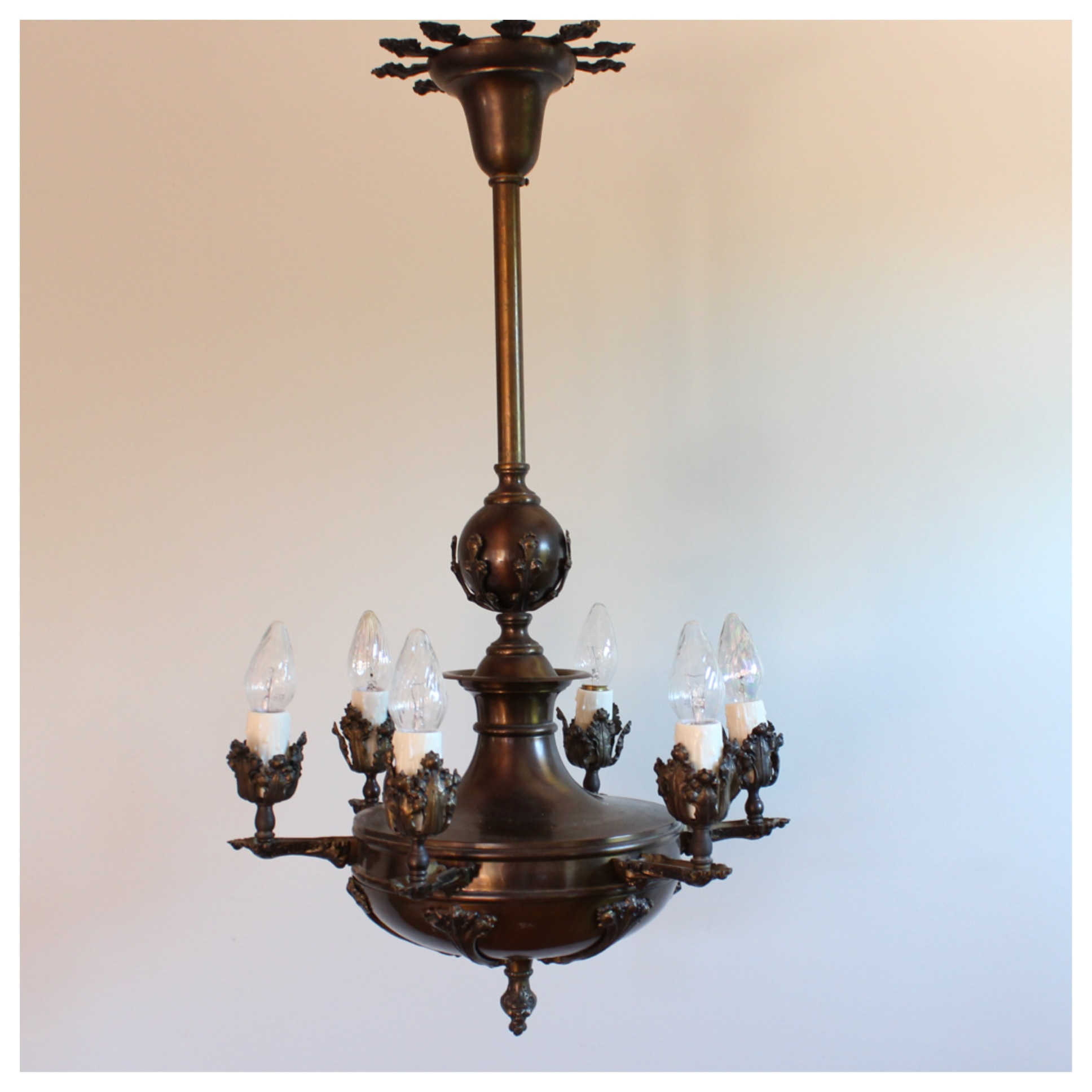 DIY122 Bronze Candle Chandelier