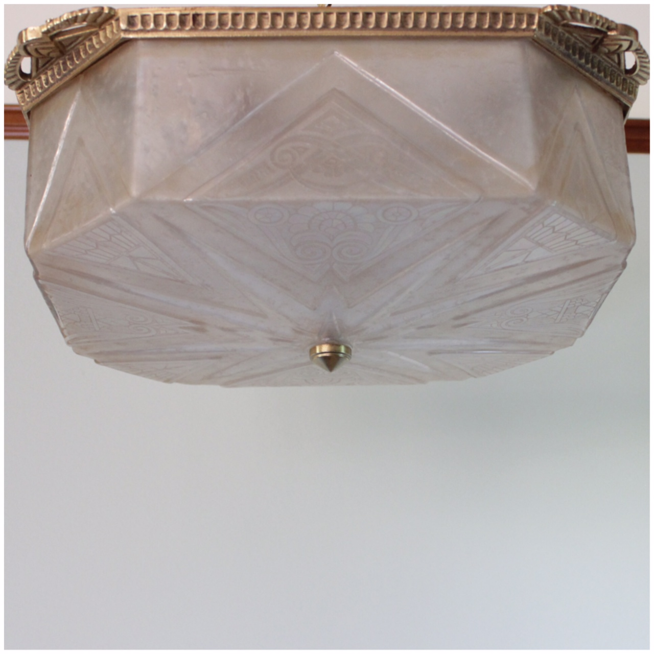 #A4640 Art Deco Flush Mount Light | Bogart, Bremmer u0026 Bradley Antiques