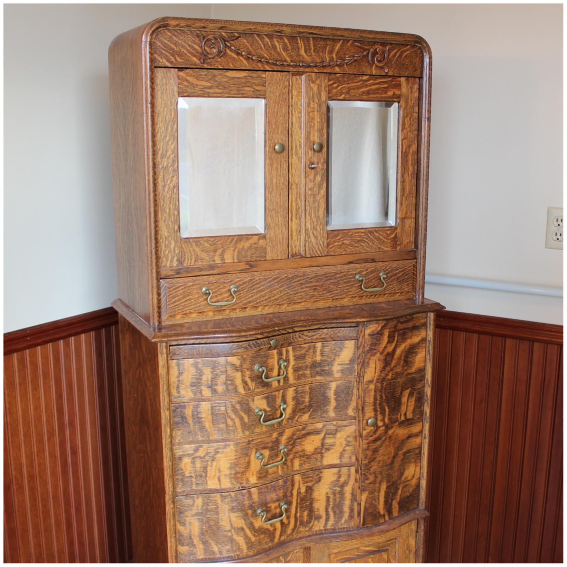 F4462 Oak Dental Cabinet