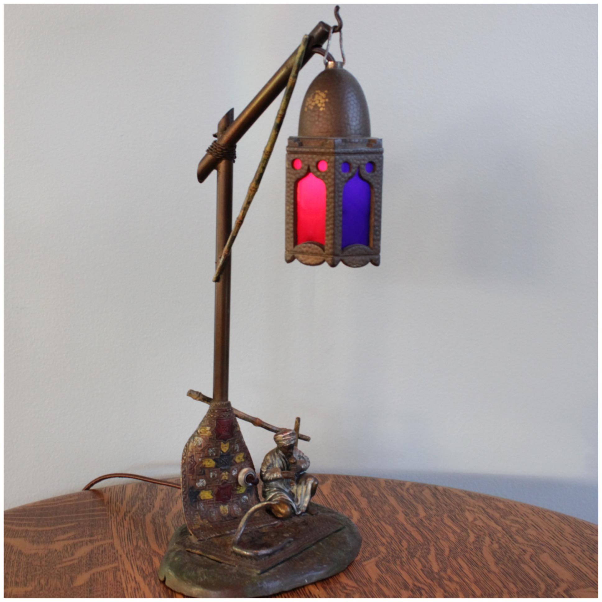 #A6240 Bedouin Merchant Novelty Lamp