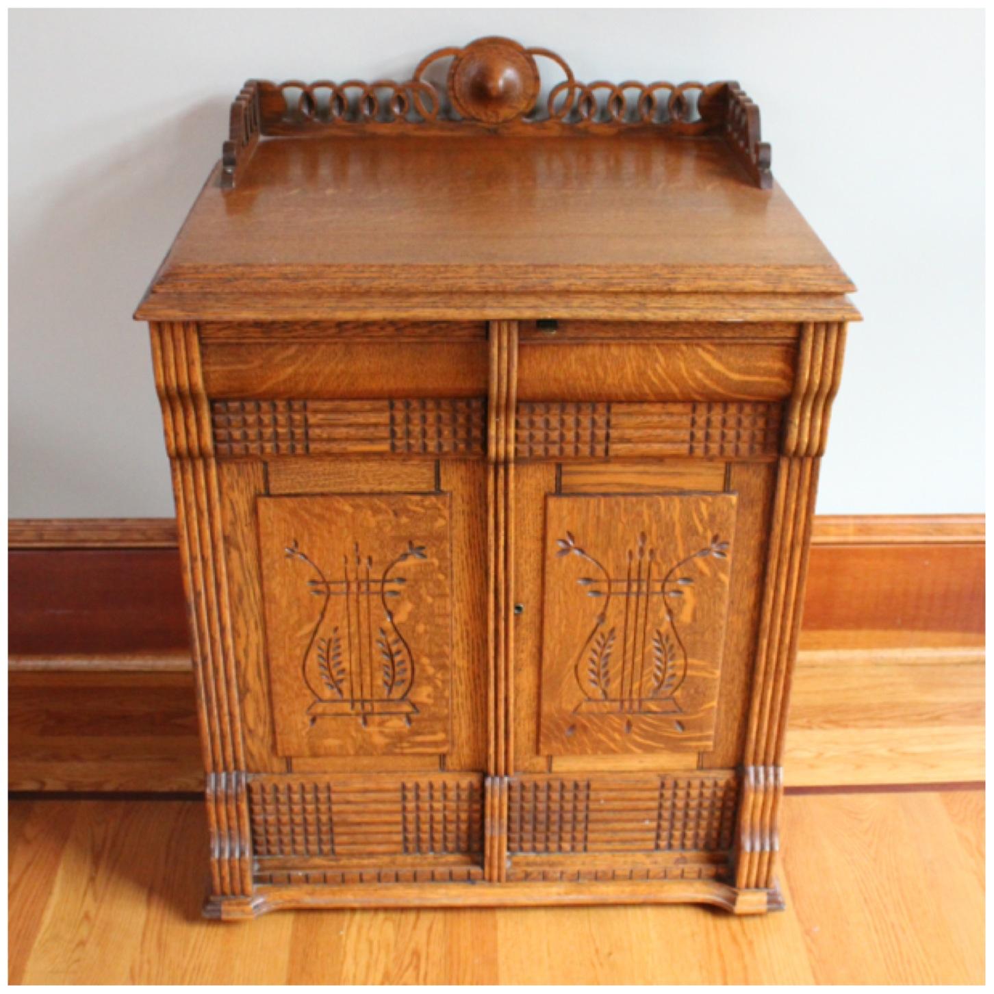 #F3140 Oak Cabinet - F3140 Oak Cabinet Bogart, Bremmer & Bradley Antiques