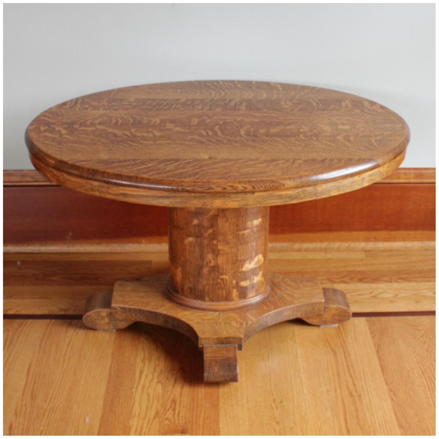 #F4470 Oak Coffee Table. $985.00. Circa 1900u0027s Quartersawn ...