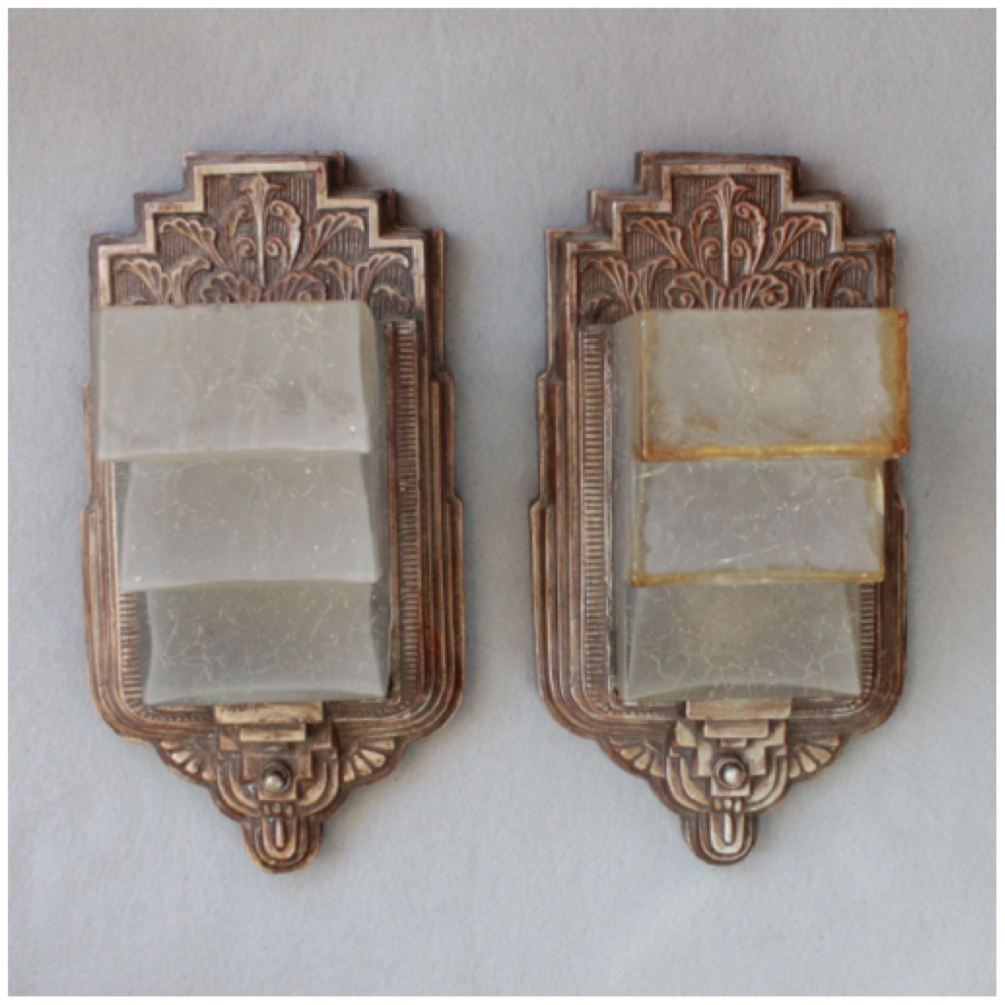 Wall Sconces Deco : #DIY155 Pair Art Deco Wall Sconces Bogart, Bremmer & Bradley Antiques