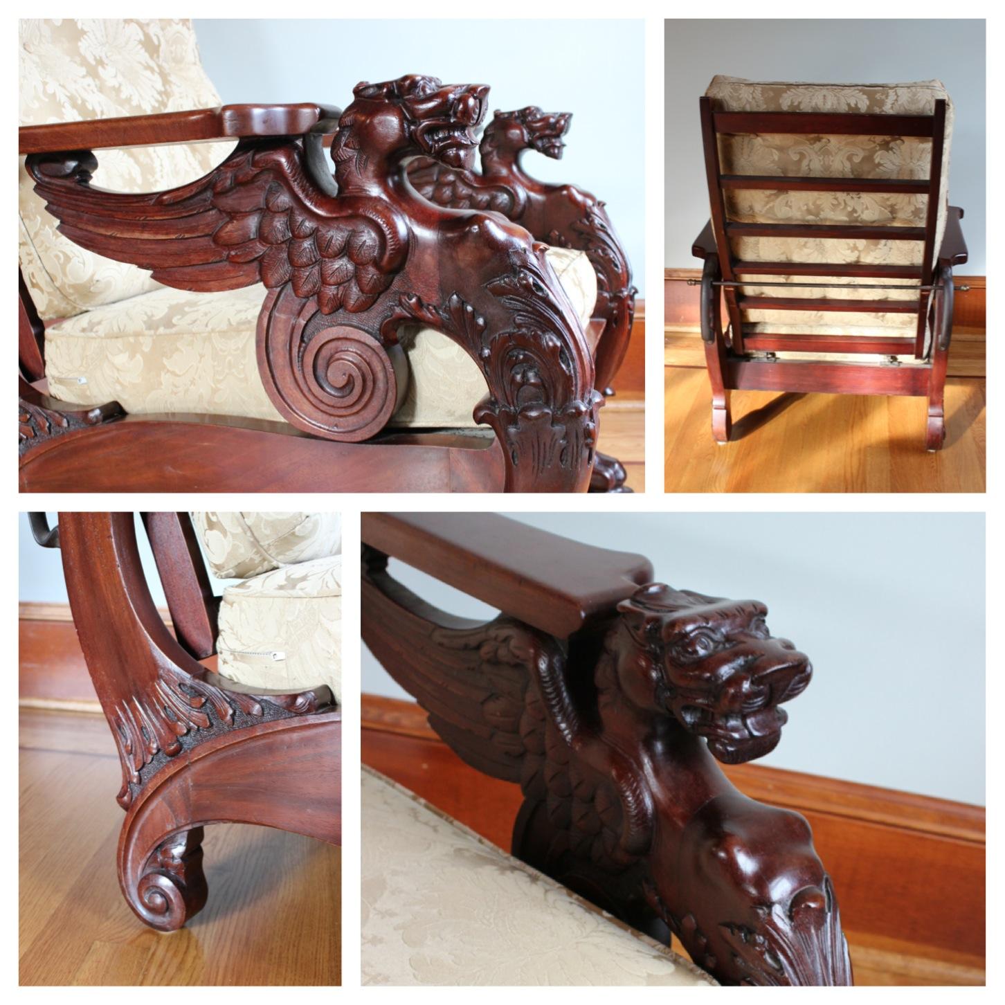 #F3320 Mahogany Morris Chair - F3320 Mahogany Morris Chair Bogart, Bremmer & Bradley Antiques