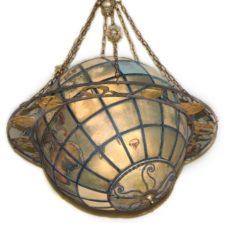 Lighting product categories bogart bremmer bradley antiques a4444 antique world globe chandelier with zodiac ring aloadofball Gallery
