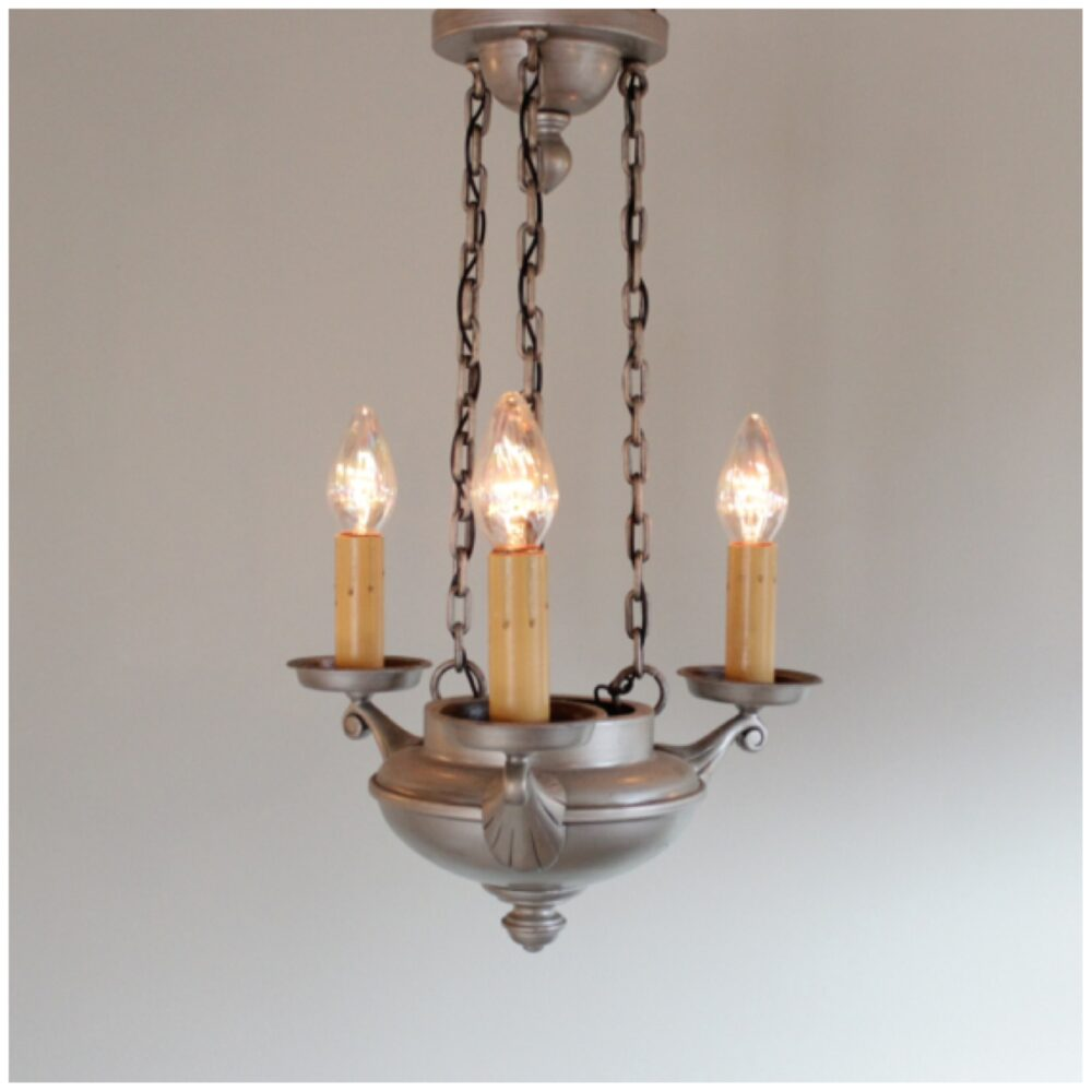 Candle Light Fixture: #A8447 Art Deco Candle Chandelier