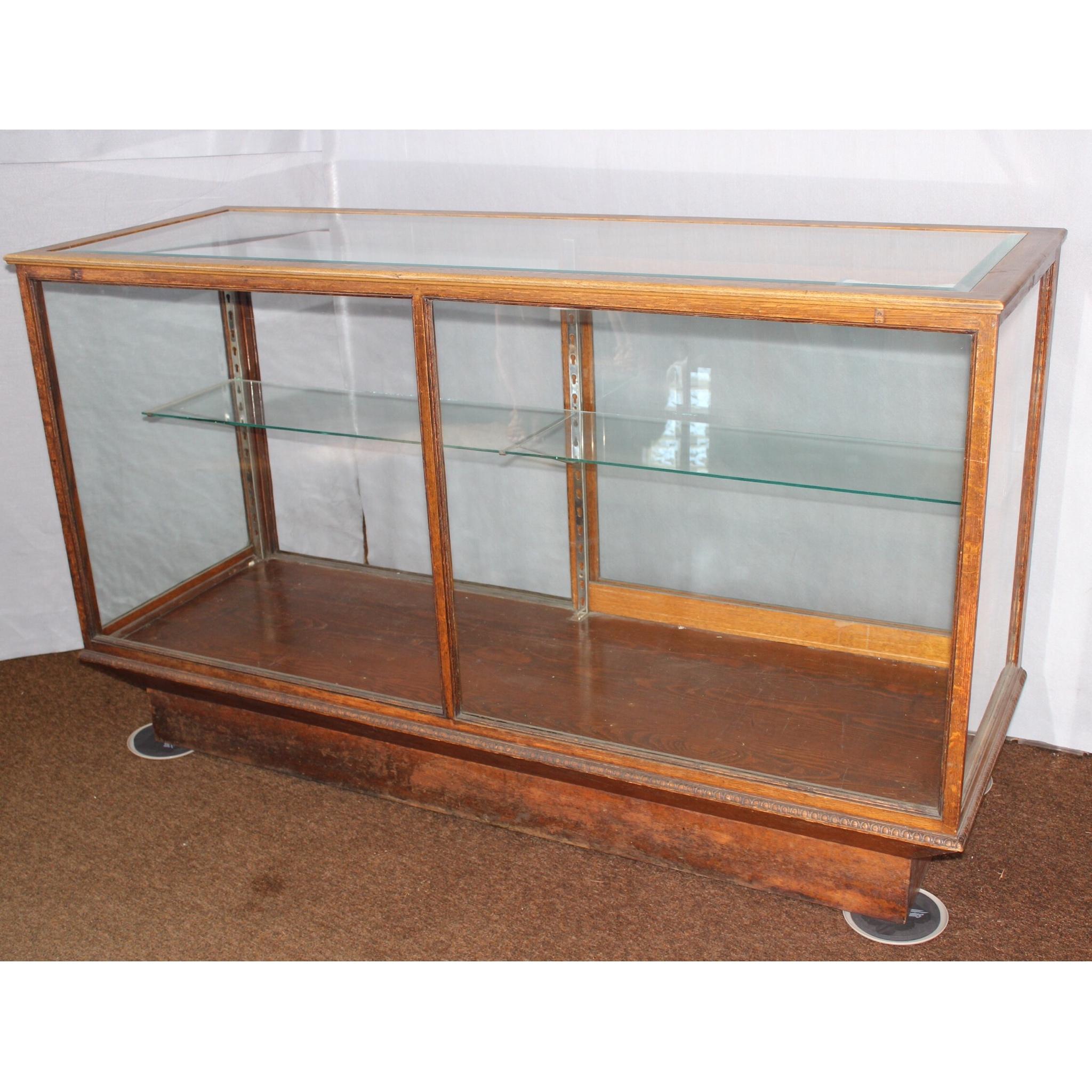 F3390 Oak Store Counter Display Case Bogart Bremmer