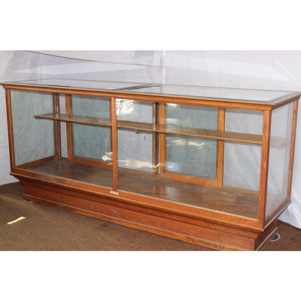 #F4440 Oak Store Counter Display Case : Bogart, Bremmer u0026 Bradley Antiques